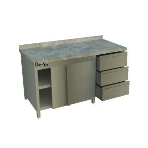 Hamur Hazırlık Tezgahı Dolaplı Blok Çekmeceli DSTN1571