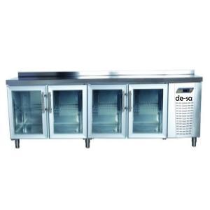 Cam Kapılı Tezgah Tipi Pastane Buzdolabı Paslanmaz Çelik DSTN1919