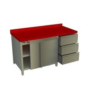 Et Hazırlık Tezgahı Dolaplı Blok Çekmeceli DSTN1584