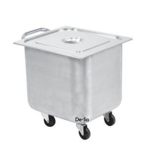 Kare Çöp Arabası Arabası Paslanmaz Çelik DSTN1474