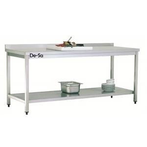 Taban Raflı Çalışma Tezgahı Paslanmaz Çelik  DSTN435