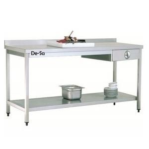 Tek Çekmeceli Çalışma Tezgahı Paslanmaz Çelik DSTN465